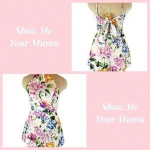 Show Me Your MuMu Afton Tie Back Romper Size S